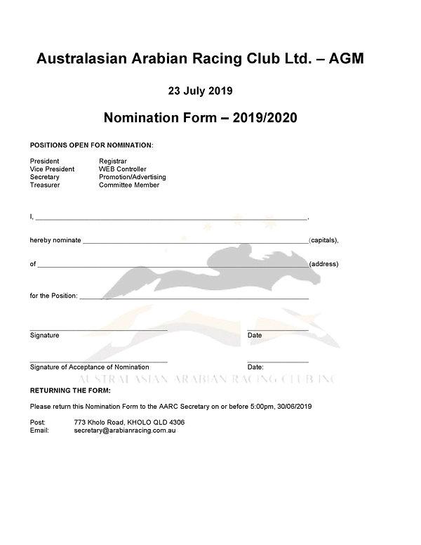 Australasian Arabian Racing Club Ltd AGM