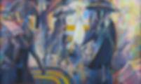 1. Glittering dusk 1996 183x112cm.jpg