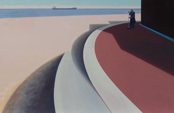 Russian Ship Off Yarmouth Beach