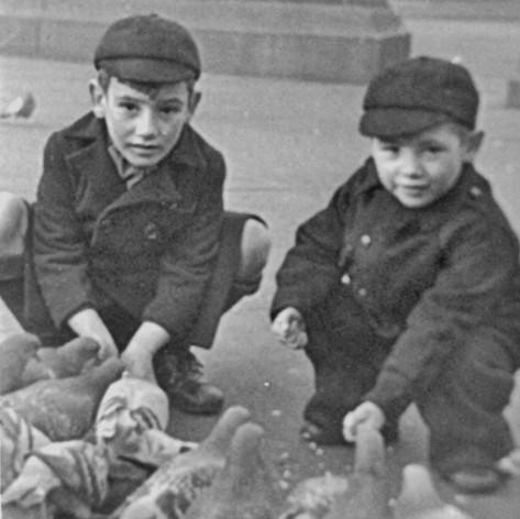 Malcolm and John Travalgar Square 1943