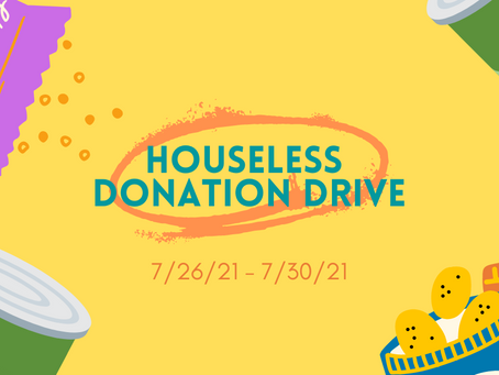 NEW EVENT: Houseless Donation Drive