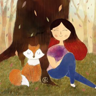 Girl and Fox