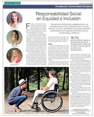 Fundación Comunidad Inclusiva: Responsabilidad Social en Equidad e inclusión