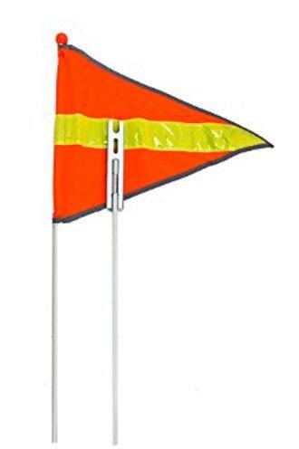 Flag Pole with Reflective Sleeve and Flag