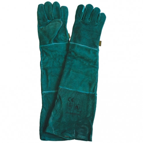 Green Lined Leather Welders Glove 40cm