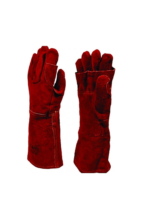 Premium Red Heat Resistant Elbow Length Glove                              .