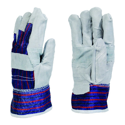 CANDY STRIP Chrome Leather Gloves