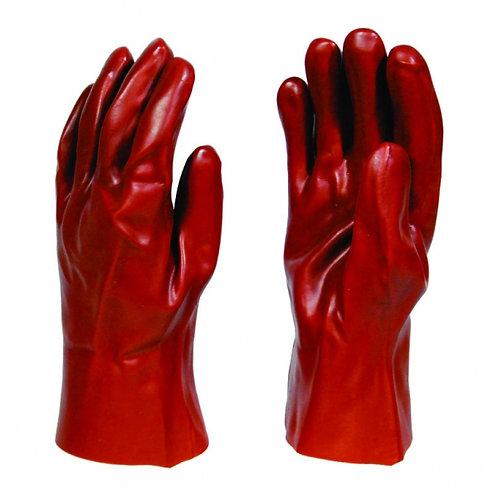 PVC Red Open Cuff Medium Duty Glove