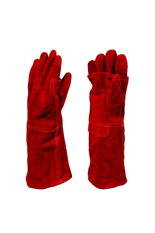 Red Heat Resistant Elbow Length Glove