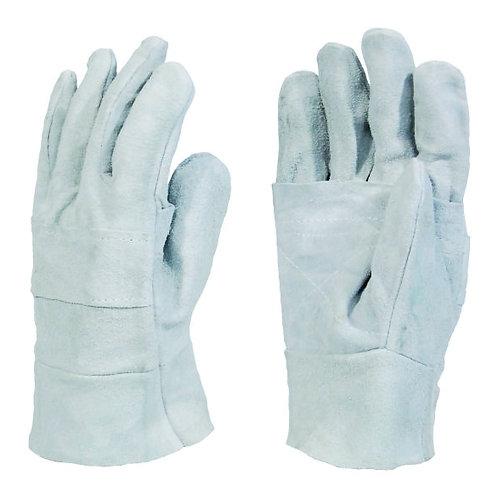 Chrome Leather Double Palm Wrist Length Glove 10cm
