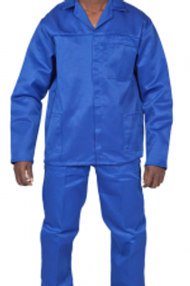 Polycotton Conti Suit Royal Blue Workwear