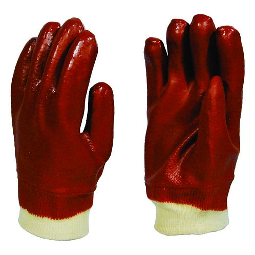 PVC Red Medium Duty Safe Grip Glove