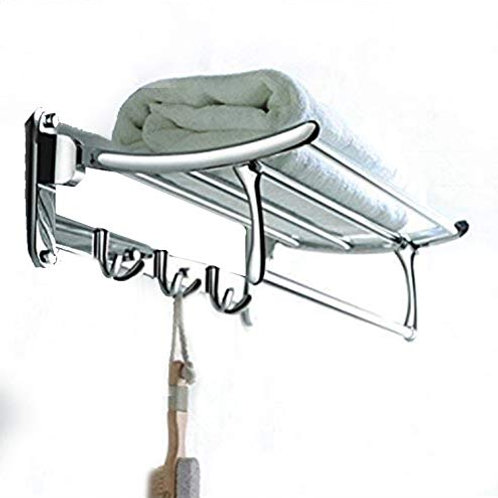 FORTUNE Classic Stainless Steel Folding Towel Rack for Bathroom | Towel Stand |