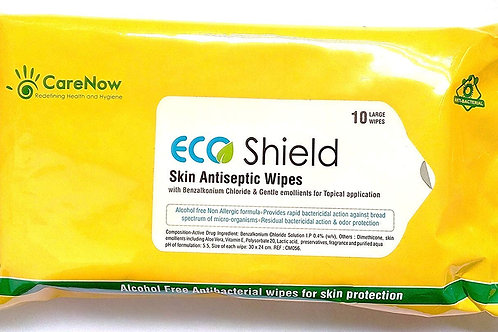 ECO SHIELD SKIN ANTISEPTIC WIPES (PACK OF 2)