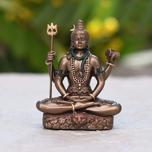 Collectible India 3.4-inch Cold Cast Bronze Lord Shiv Idol as Gifts
