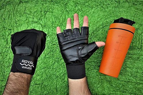 ROYAL WAVES Gym-Gloves-C-1 Gym Gloves (Black)