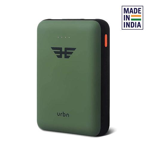 URBN 10000 mAh Li-Polymer Ultra Compact Power Bank with 12W Fast Charge (Camo)