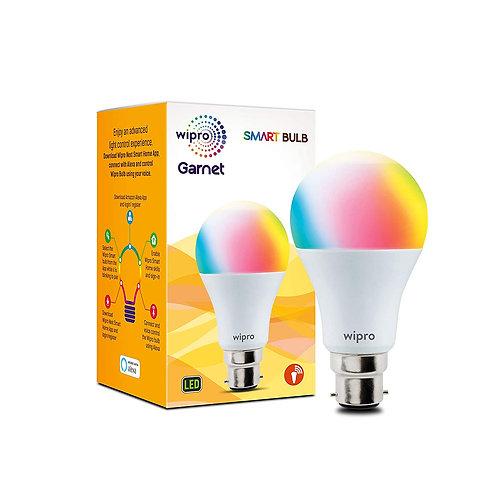 Wipro WiFi Enabled Smart LED Bulb B22 9-Watt (16 Million Colors + Warm White/Neu