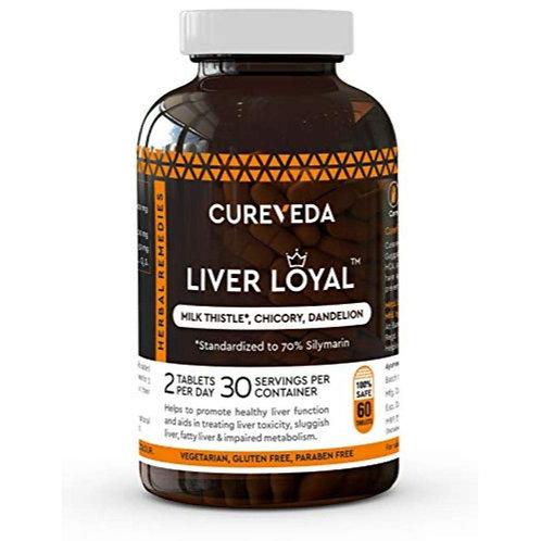 Cureveda™ Herbal Liver Loyal- Milk Thistle For Healthy Liver Function