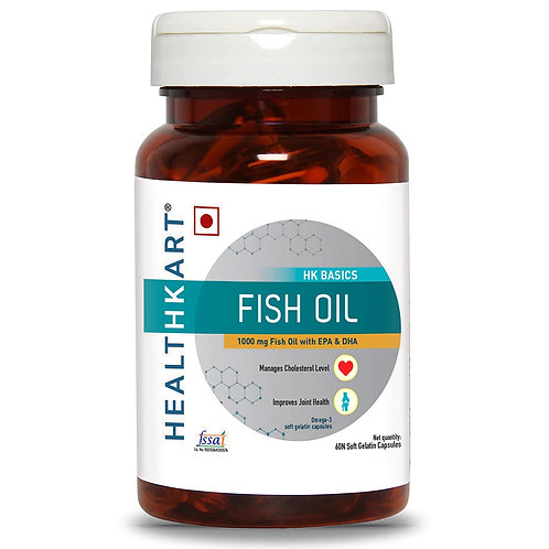HealthKart Fish oil (1000 Omega 3, with 180 mg EPA & 120 mg DHA) for brain