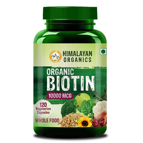 Himalayan Organics Organic Plant Based Biotin 10000Mcg/Serve - 120 Veg Capsules