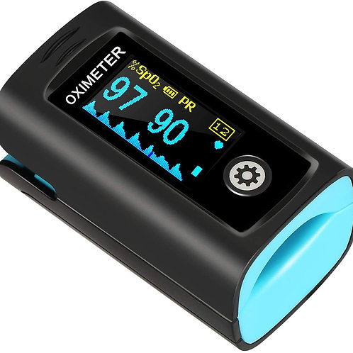 Hesley Pulse Oximeter Fingertip, Oxygen Saturation Monitor
