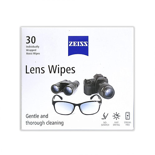 Zeiss Pre-Moistened Lens Cleaning Wipes for Spectacles, Binoculars, Mobiles.
