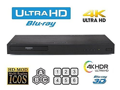 LG UBK90 UHD Streaming 4K 2D/3D Region-Free Blu Ray Disc DVD Player -PAL/NTSC US