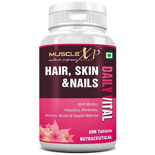 MuscleXP Multivitamin Hair, Skin and Nails with Biotin & Amino Acids - 60 Tablet