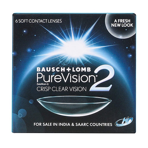 Bausch & Lomb Purevision 2 Monthly Disposable Contact Lens (-0.50, Clear, 6 Lens