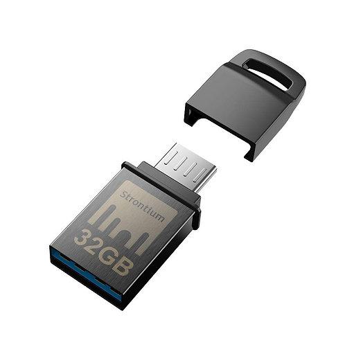 Strontium Nitro32Gb One OTG 3.1 150 MBPS (Grey)