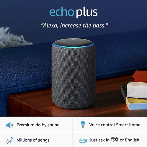 Echo Plus (2nd Gen) – Premium sound, powered by Dolby, built-in Smart Home hub (