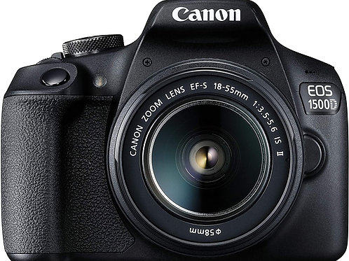 Canon EOS 1500D 24.1 Digital SLR Camera (Black) with EF S18-55 is II Lens, 16GB