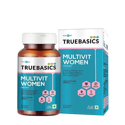 TrueBasics Multivit Women One Daily, Multivitamins, Multiminerals