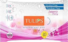 Tulips face wipes