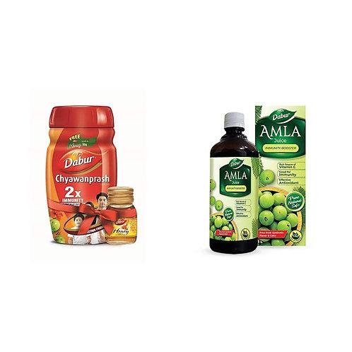 Dabur Chyawanprash 2X Immunity - 1kg with Dabur Honey - 50 g Free & Dabur Amla