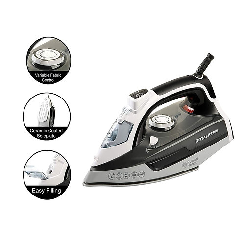 Russell Hobbs ROYALE2200 2200 Watt Steam Iron with Spray Function and 1 Measurem