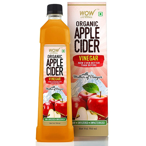 WOW Raw Apple Cider Vinegar - with strand of mother - Not from concentrate - 750