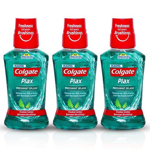 Colgate Plax Antibacterial Mouthwash, 10X longer cooling, 24/7 Fresh Breath,