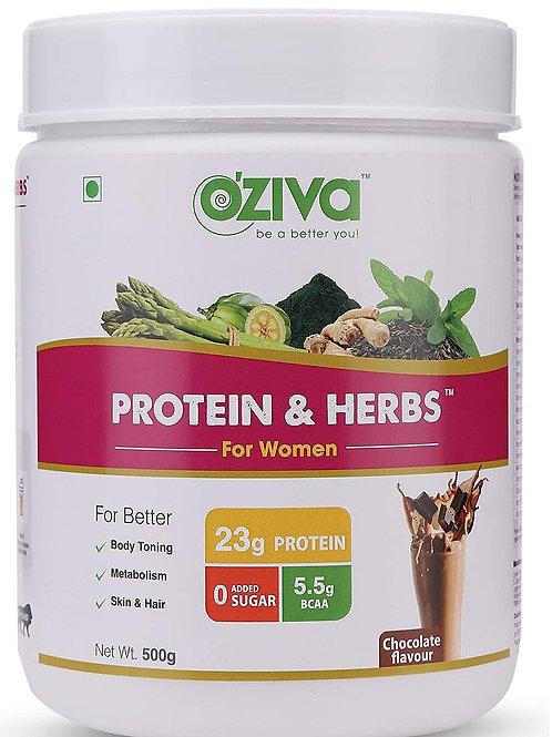 OZiva Protein & Herbs, Women, (Natural Protein Powder with Ayurvedic Herbs