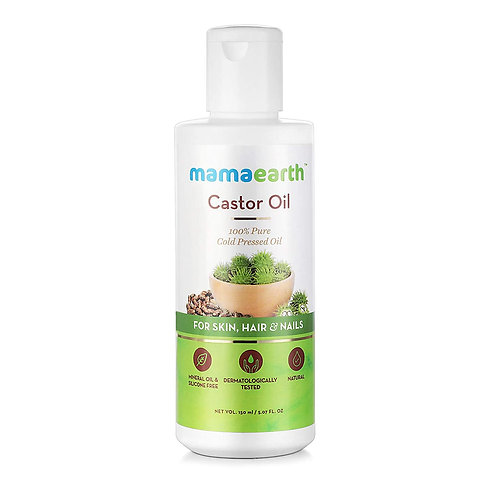 Mamaearth 100% Pure Castor Oil, Cold Pressed, To Support Hair Growth, Good Skin