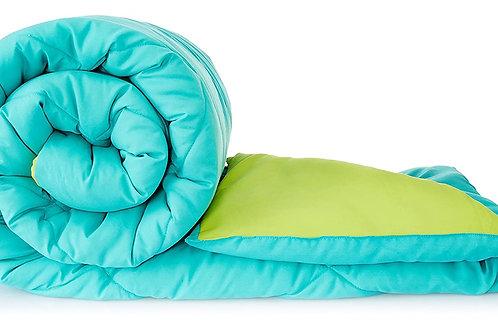 Amazon Brand - Solimo Microfiber Reversible Comforter, Single (Aqua Blue & Olive