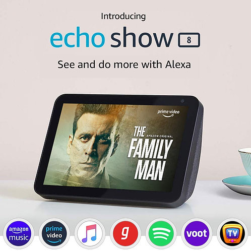 "Introducing Echo Show 8 – Smart display with Alexa - 8"" HD screen"