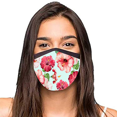 Nutcase Designer 3 Layer Face mask for women - SET OF 2- Anti-pollution Mask