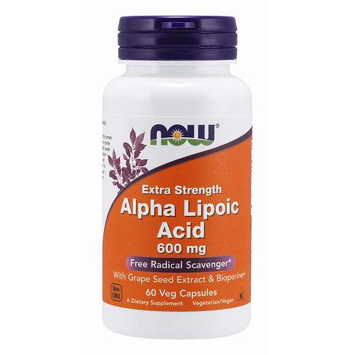 Now Foods ALPHA LIPOIC ACID, 60 Vcaps 600 mg