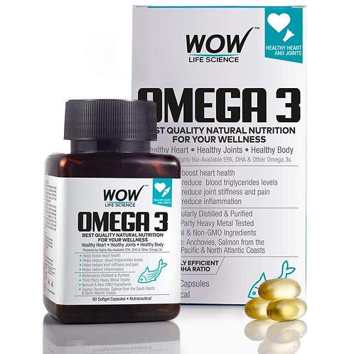 WOW Omega-3 Fish Oil Triple Strength 1000mg (550mg EPA; 350mg DHA; 100mg Other
