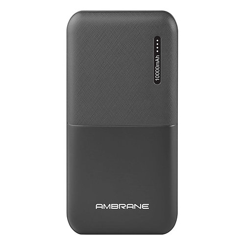 Ambrane 10000mAh Li-Polymer Powerbank with Compact Size& Fast Charging for Smart