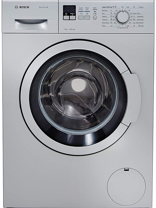 Bosch 7 kg Fully-Automatic Front Loading Washing Machine (WAK24168IN, Silver,)