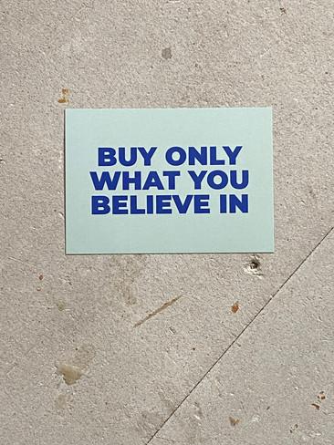 Postkarte Believe