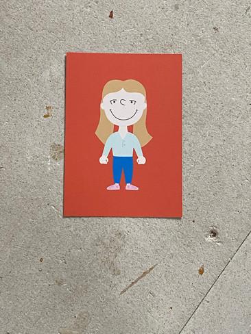 Postkarte Doris